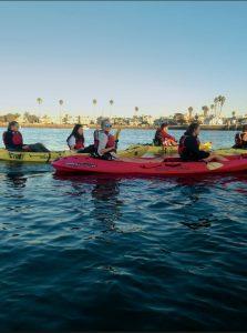 Students Kayaking at CI Boating Center photo credit to Julia Cheng