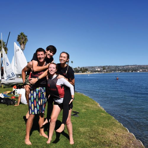 Sailing Club, four students by Sailing Club