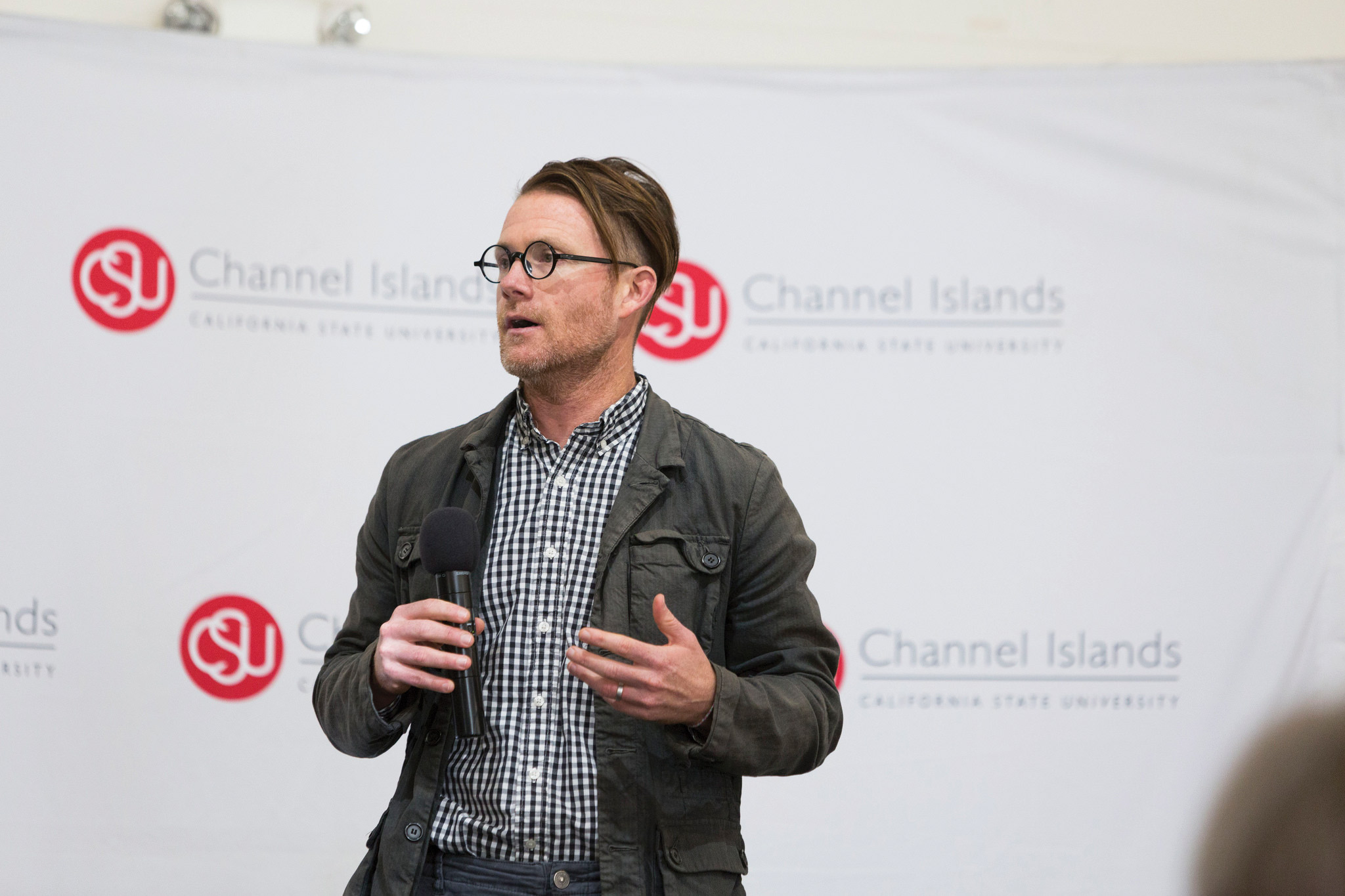 Jonathan Mooney visited CI on Feb. 13 in order to discuss his experiences growing up as a child with dyslexia and ADHD. Photo credit to CI Communication and Marketing.