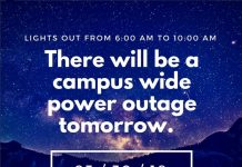An Instagram post informing students of the planned power outage on campus. Photo credit to The CI View Instagram.