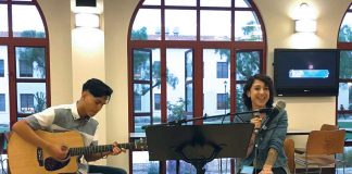 A student band performing in the Student Union Building. Photo credit to Sarina Galindo.