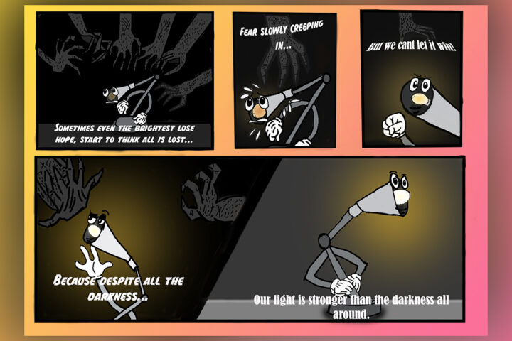 Short comic: Light in the darkness