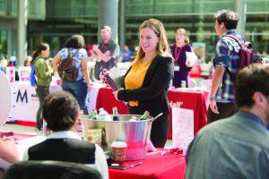 Students network at Career and Internship Fair