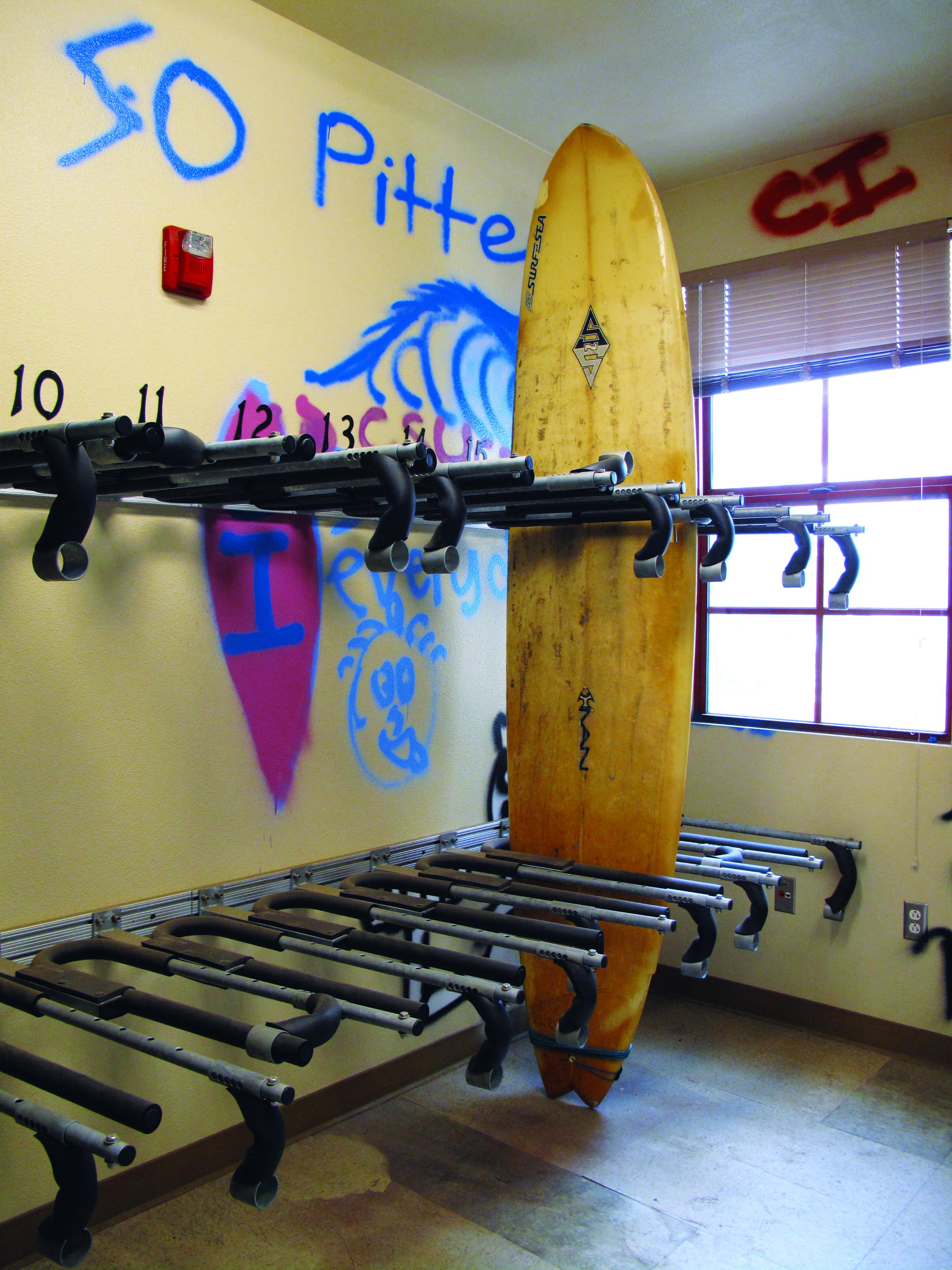 Dorms get surboard storage